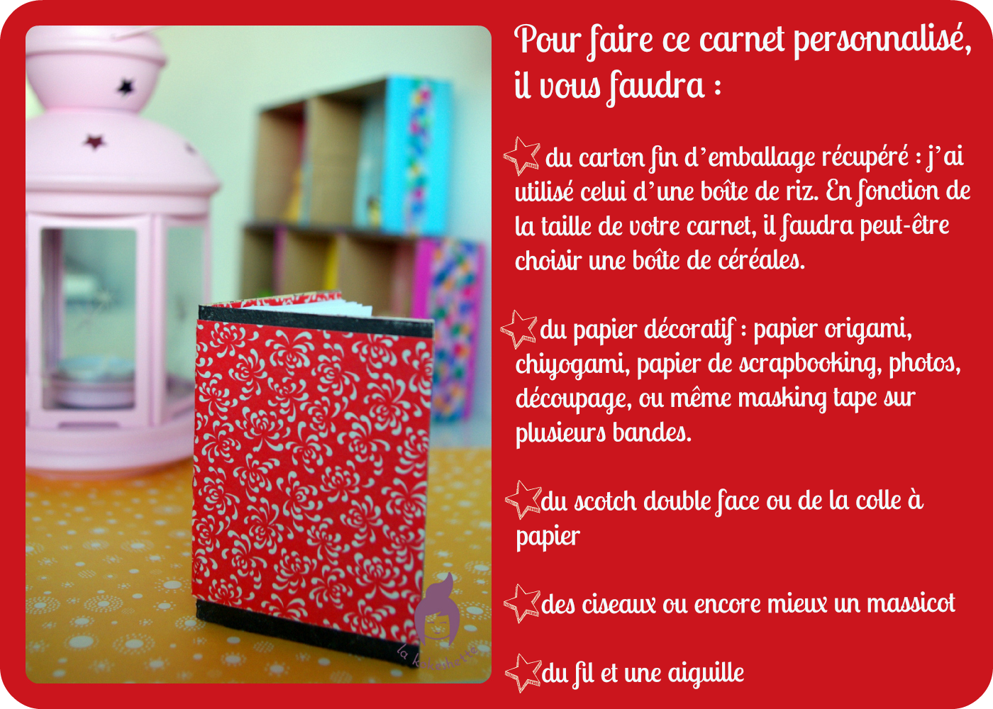 diy petit carnet r cup le blog de la kokeshette. Black Bedroom Furniture Sets. Home Design Ideas