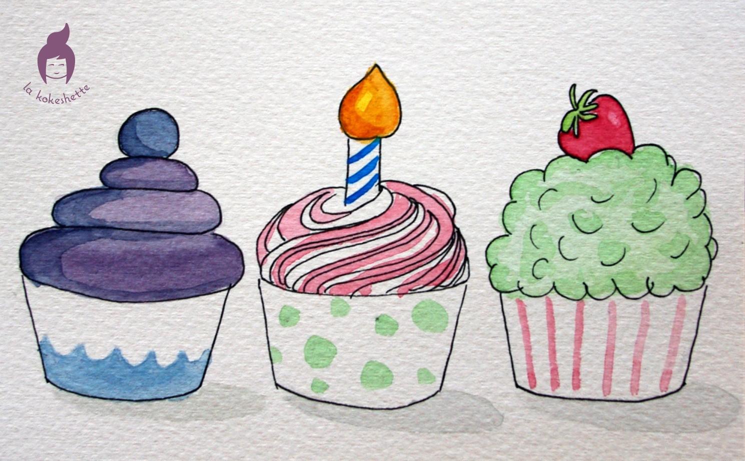 Dessin le blog de la kokeshette - Dessin cupcake ...