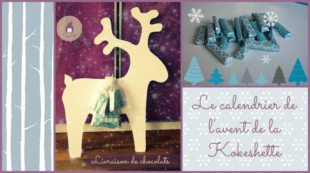 DIY Calendrier de l'avent - Renne et chocolats - by La Kokeshette