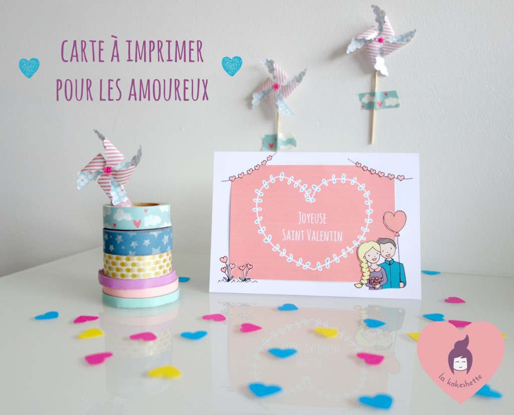 DIY à imprimer Carte Saint Valentin Porte Photo