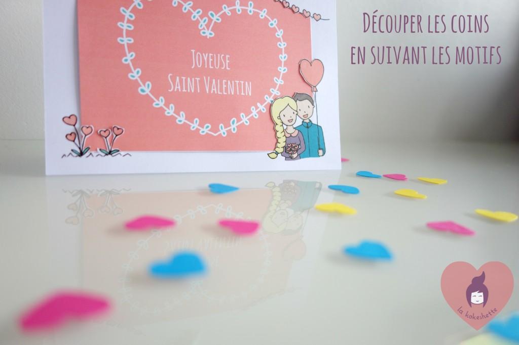 diy carte saint valentin découper les coins