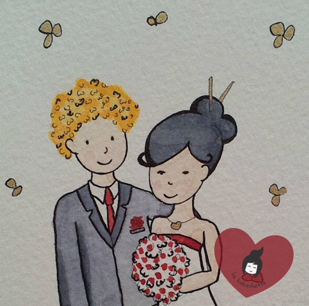 DIY Carte Aquarelle Mariage