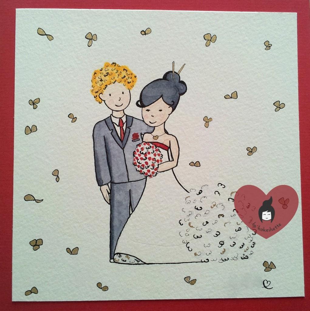 DIY Carte Mariage Aquarelle