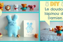 DIY Doudou Lapinou Bleu